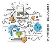 flat colorful design concept... | Shutterstock .eps vector #1010002855