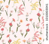 seamless pattern of tropical... | Shutterstock .eps vector #1010003041