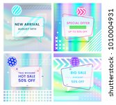 set of trendy abstract... | Shutterstock .eps vector #1010004931