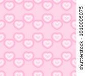 heart pattern vector  | Shutterstock .eps vector #1010005075