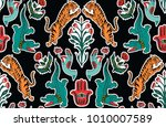 seamless indian pattern. set of ... | Shutterstock . vector #1010007589