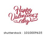 happy valentines day.... | Shutterstock .eps vector #1010009635