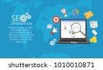 colorful flat illustration web...   Shutterstock .eps vector #1010010871