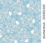 floral seamless pattern  vector ... | Shutterstock .eps vector #101001265