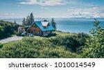 stunning landscape of a nice... | Shutterstock . vector #1010014549