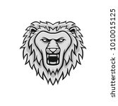 lion mascot head vector... | Shutterstock .eps vector #1010015125