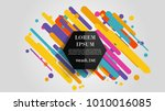 vector  abstract geometric... | Shutterstock .eps vector #1010016085