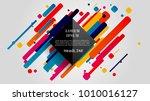 vector  abstract geometric... | Shutterstock .eps vector #1010016127