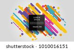 vector  abstract geometric... | Shutterstock .eps vector #1010016151