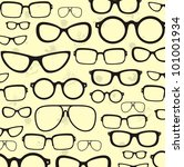 sunglasses collection   vector | Shutterstock .eps vector #101001934