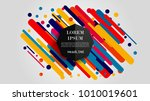vector  abstract geometric... | Shutterstock .eps vector #1010019601
