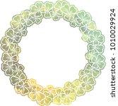 silhouette round mosaic frame... | Shutterstock .eps vector #1010029924