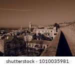 landscape of the city of girona ...   Shutterstock . vector #1010035981