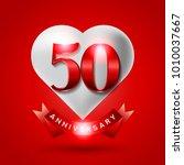 50 years anniversary logo... | Shutterstock .eps vector #1010037667