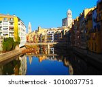 landscape of the city of girona ...   Shutterstock . vector #1010037751