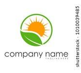 leaf sun logo designs vectors | Shutterstock .eps vector #1010039485