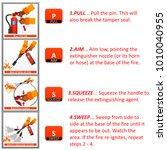 fire extinguisher instruction... | Shutterstock . vector #1010040955