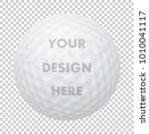 vector realistic golf ball icon....   Shutterstock .eps vector #1010041117