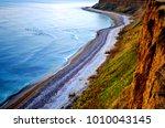 amazing wild beach in romania...   Shutterstock . vector #1010043145