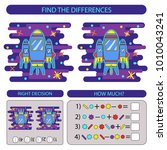 find the difference rocket in... | Shutterstock .eps vector #1010043241