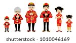 chinese new year family clip... | Shutterstock .eps vector #1010046169