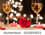closeup of red rose. romantic... | Shutterstock . vector #1010053021
