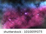 colorful nebula background.... | Shutterstock .eps vector #1010059375