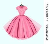 party prom dress with fancy... | Shutterstock .eps vector #1010065717