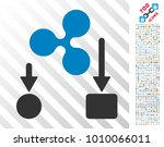 ripple cashflow icon with 7... | Shutterstock .eps vector #1010066011