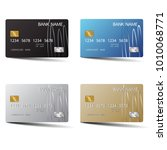 modern credit card set template ... | Shutterstock .eps vector #1010068771
