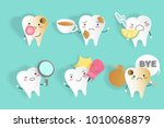 tooth with sensitive problem on ... | Shutterstock . vector #1010068879