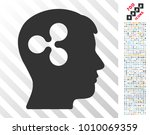 ripple brain pictograph with 7... | Shutterstock .eps vector #1010069359