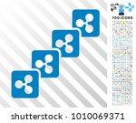 ripple block chain pictograph... | Shutterstock .eps vector #1010069371