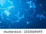 abstract polygonal space low... | Shutterstock . vector #1010069695