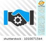 smart contract handshake... | Shutterstock .eps vector #1010071564