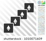 ethereum blockchain pictograph... | Shutterstock .eps vector #1010071609