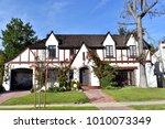 custom built luxury house with ... | Shutterstock . vector #1010073349