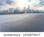urban road square and skyline... | Shutterstock . vector #1010074417