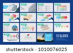 presentation template with... | Shutterstock .eps vector #1010076025