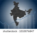 the indian finance and economy | Shutterstock .eps vector #1010076847