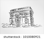 arc de triomphe is one of the... | Shutterstock .eps vector #1010080921