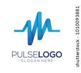 pulse and health logo vector | Shutterstock .eps vector #1010093881