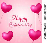 valentine's day greeting card... | Shutterstock .eps vector #1010095804
