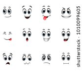 set of different emoticons | Shutterstock . vector #1010099605