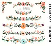 floral borders collection ... | Shutterstock .eps vector #1010100565