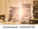 stock market or forex trading...   Shutterstock . vector #1010102755