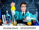 smart boy scientist making... | Shutterstock . vector #1010104504