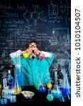 smart boy scientist making... | Shutterstock . vector #1010104507