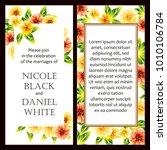 vintage delicate invitation... | Shutterstock . vector #1010106784