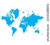 blue map of continents   russia ... | Shutterstock .eps vector #1010108041